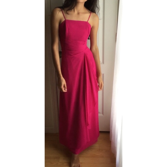 Dresses | Fuchsia Pink Prom Dress Evening Dress | Poshmark
